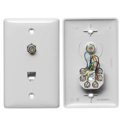 hubbell nylon f type coax telephone wall jack [ 900 x 900 Pixel ]