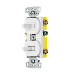 hubbell 15 amp single pole 3 way white combination residential light switch [ 900 x 900 Pixel ]