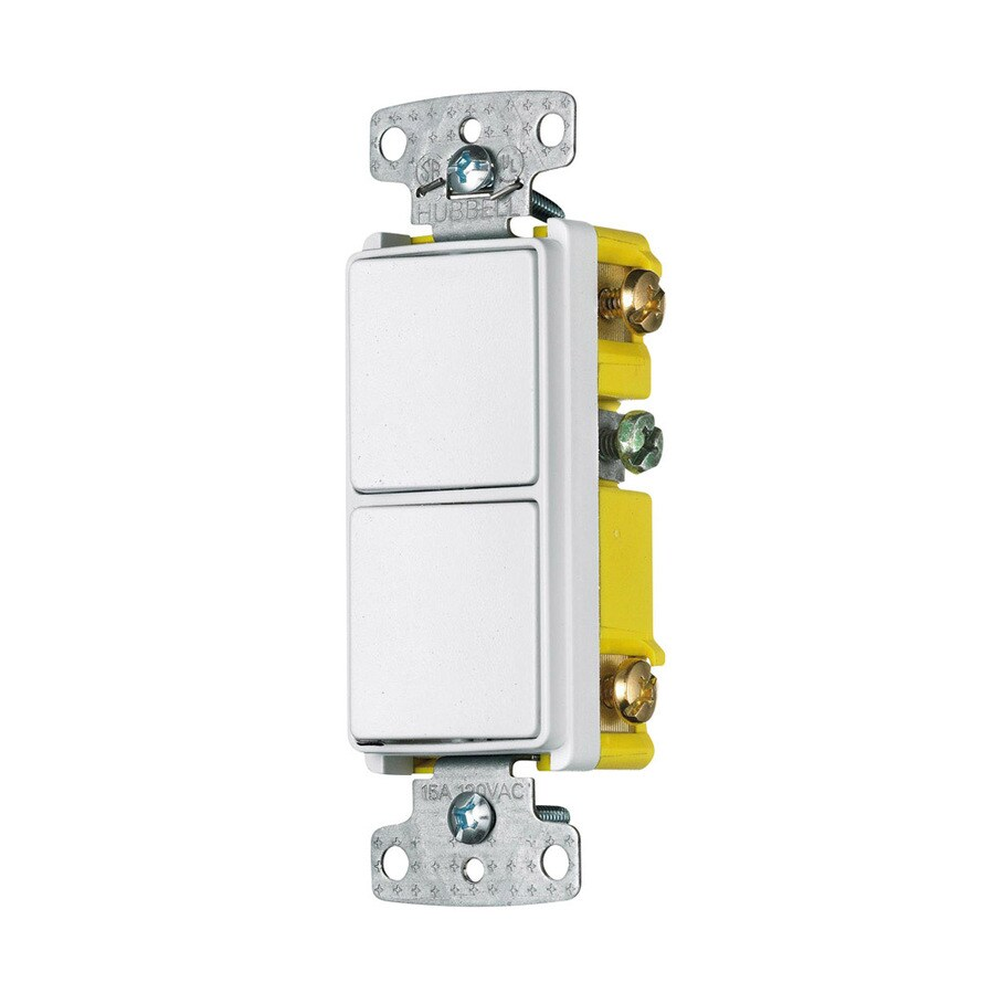 medium resolution of hubbell 15 amp single pole 3 way white combination residential commercial light switch