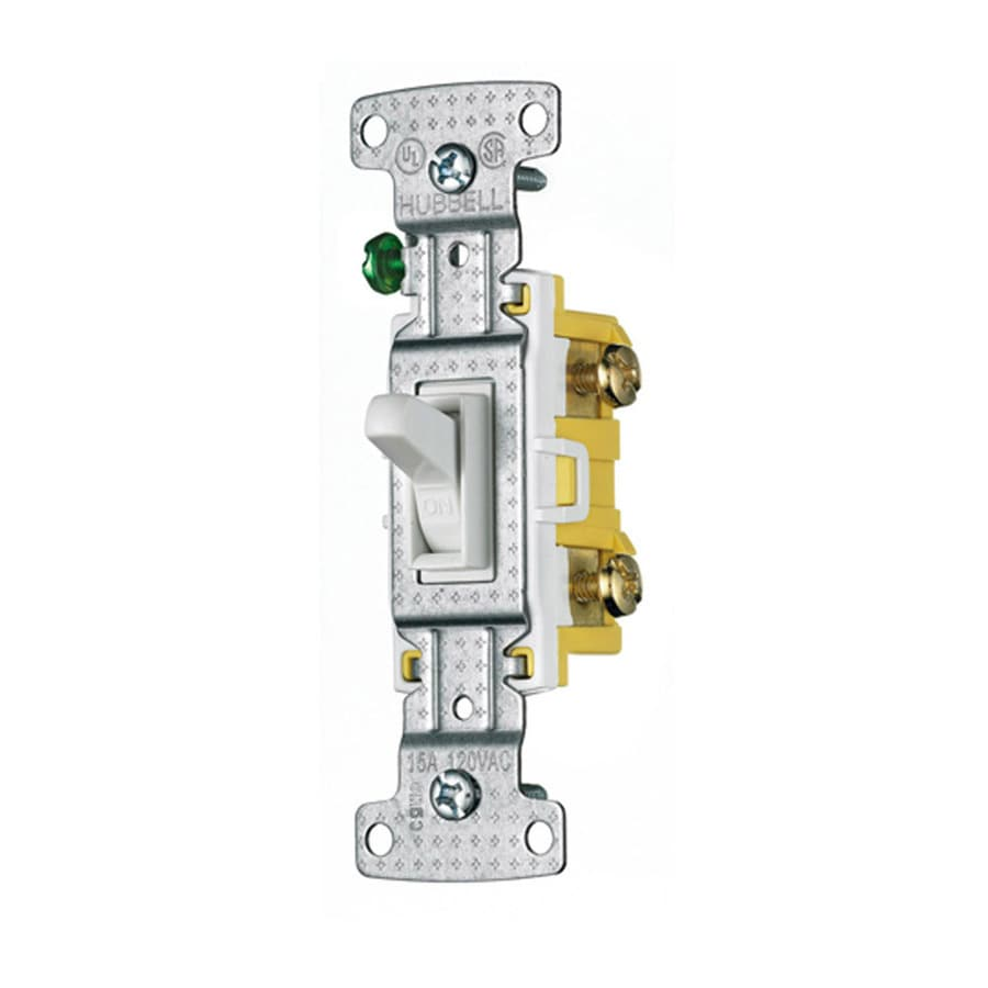 hight resolution of hubbell 15 amp single pole white framed toggle light switch at lowes com hubbell occupancy sensor wiring diagram hubbell light switch wiring diagram