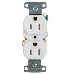 hubbell x clamp white 15 amp duplex tamper resistant residential 10 pack outlet [ 900 x 900 Pixel ]