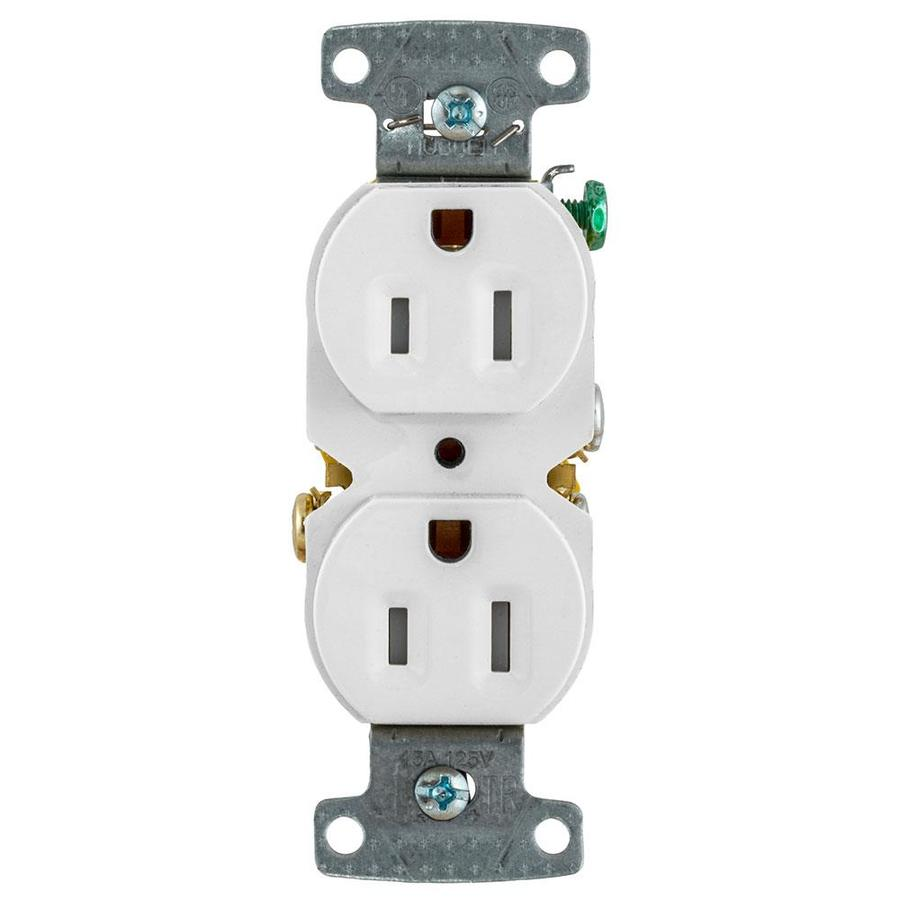 hight resolution of hubbell x clamp white 15 amp duplex tamper resistant residential 10 pack outlet