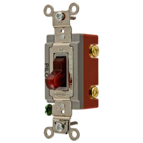 small resolution of hubbell 15 20 amp single pole red toggle illuminated industrial light switch