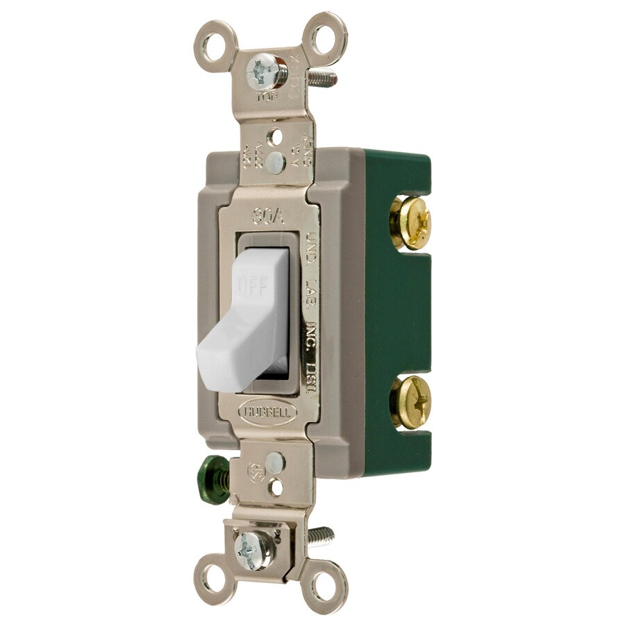 hight resolution of hubbell 30 amp double pole white toggle light switch at lowes com two pole switch light wiring light switch double pole 30 amp wiring diagram