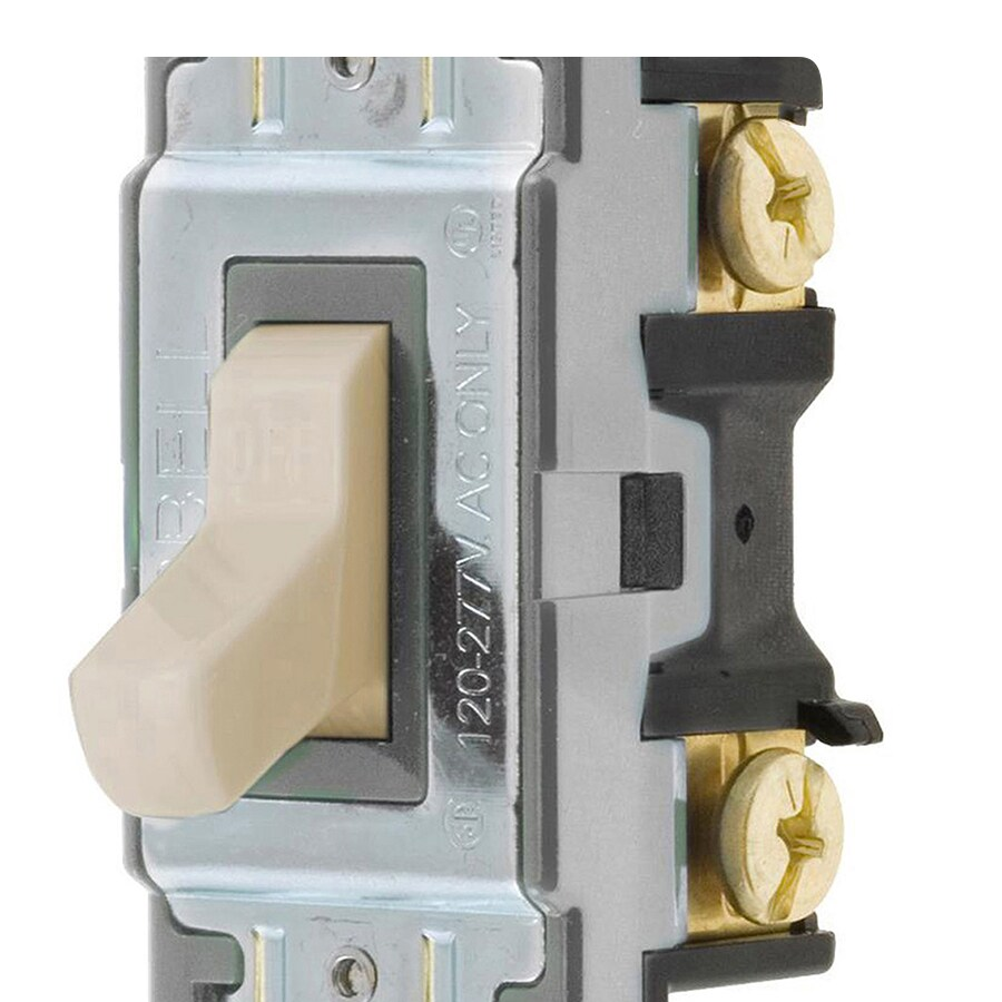 medium resolution of hubbell 15 20 amp single pole ivory toggle light switch