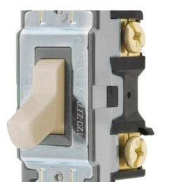 hubbell 15 20 amp single pole light almond toggle residential commercial light switch [ 900 x 900 Pixel ]