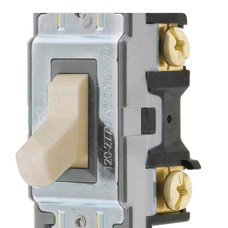 hight resolution of hubbell 15 20 amp single pole light almond toggle residential commercial light switch