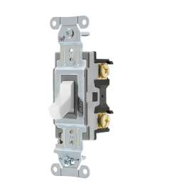 hubbell 15 20 amp 3 way white toggle light switch [ 900 x 900 Pixel ]