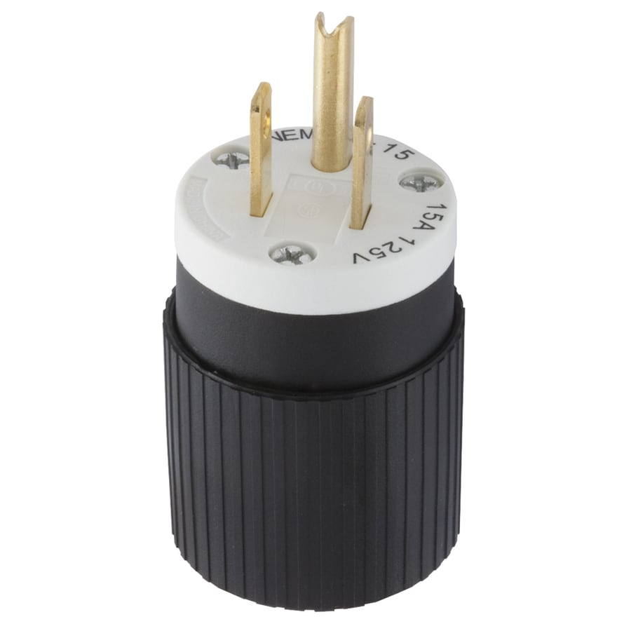 hight resolution of hubbell 15 amp 125 volt black white 3 wire plug