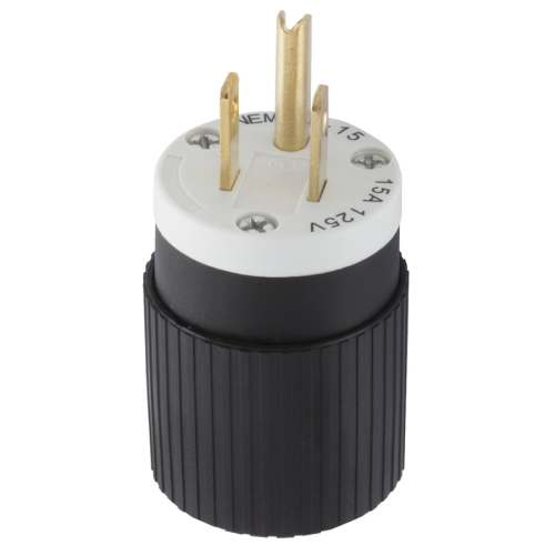 small resolution of hubbell 15 amp 125 volt black white 3 wire plug