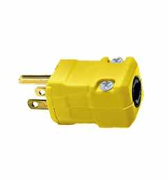 hubbell 15 amp volt yellow 3 wire grounding plug [ 900 x 900 Pixel ]