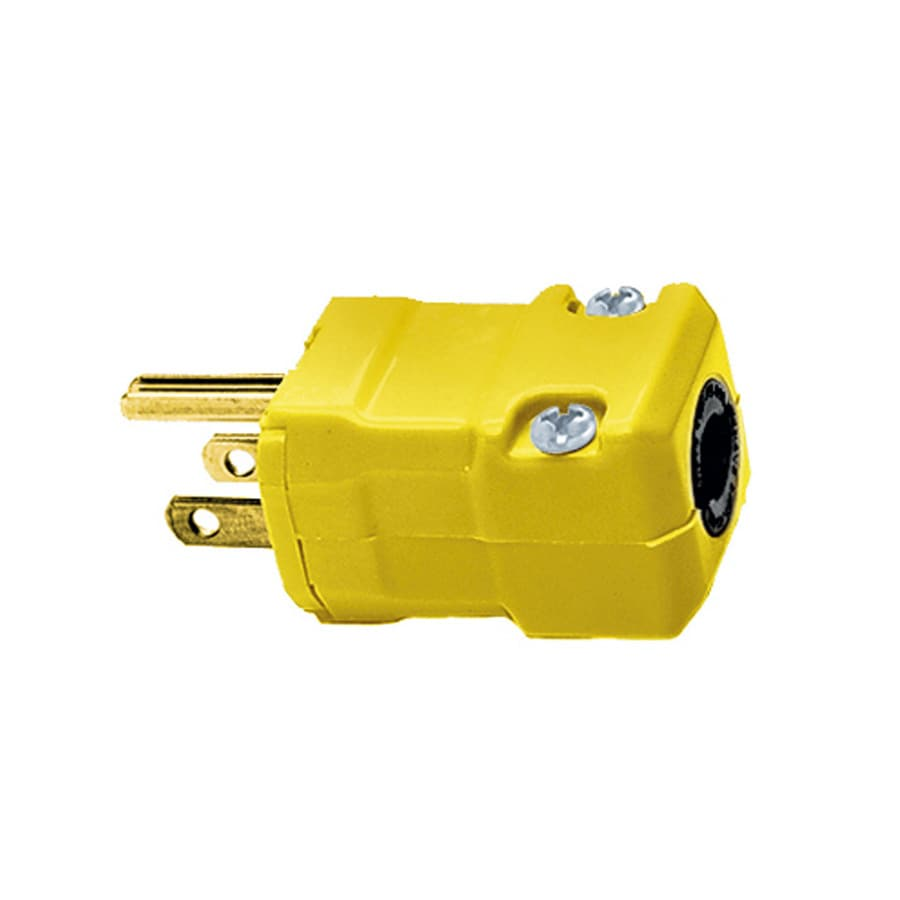 medium resolution of hubbell 15 amp volt yellow 3 wire grounding plug