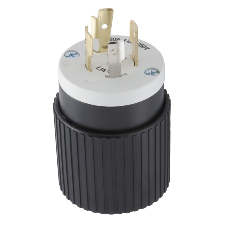 medium resolution of hubbell 20 amp 125 250 volt black white 4 wire grounding plug