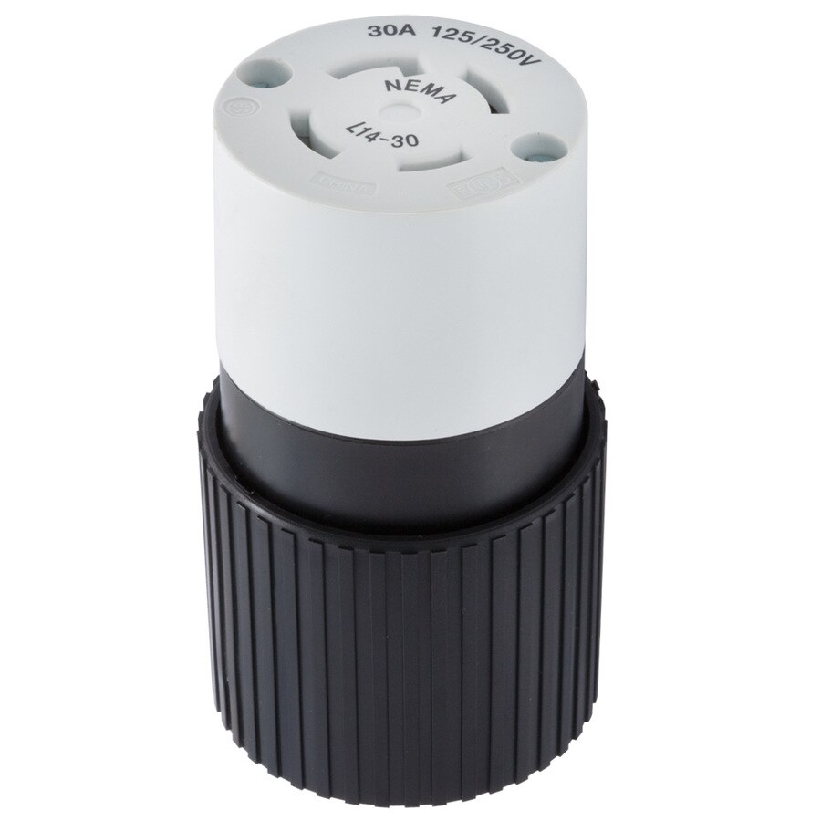 medium resolution of hubbell 30 amp volt black white 4 wire grounding connector