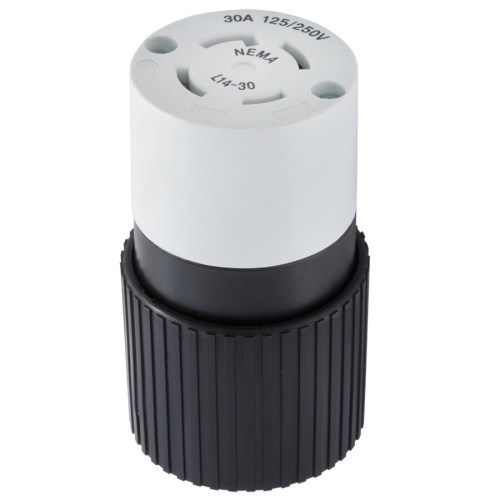 small resolution of hubbell 30 amp volt black white 4 wire grounding connector