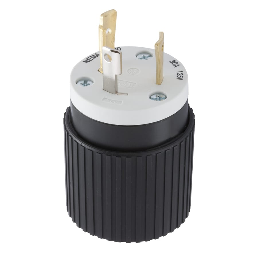 medium resolution of hubbell 30 amp 125 volt black 3 wire grounding plug