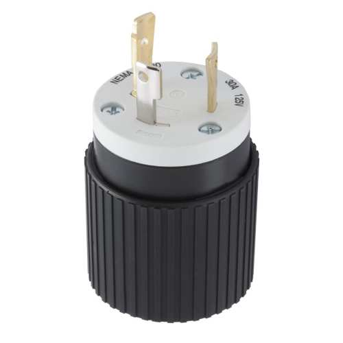 small resolution of hubbell 30 amp 125 volt black 3 wire grounding plug