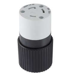 hubbell 30 amp 250 volt black 3 wire grounding connector [ 900 x 900 Pixel ]