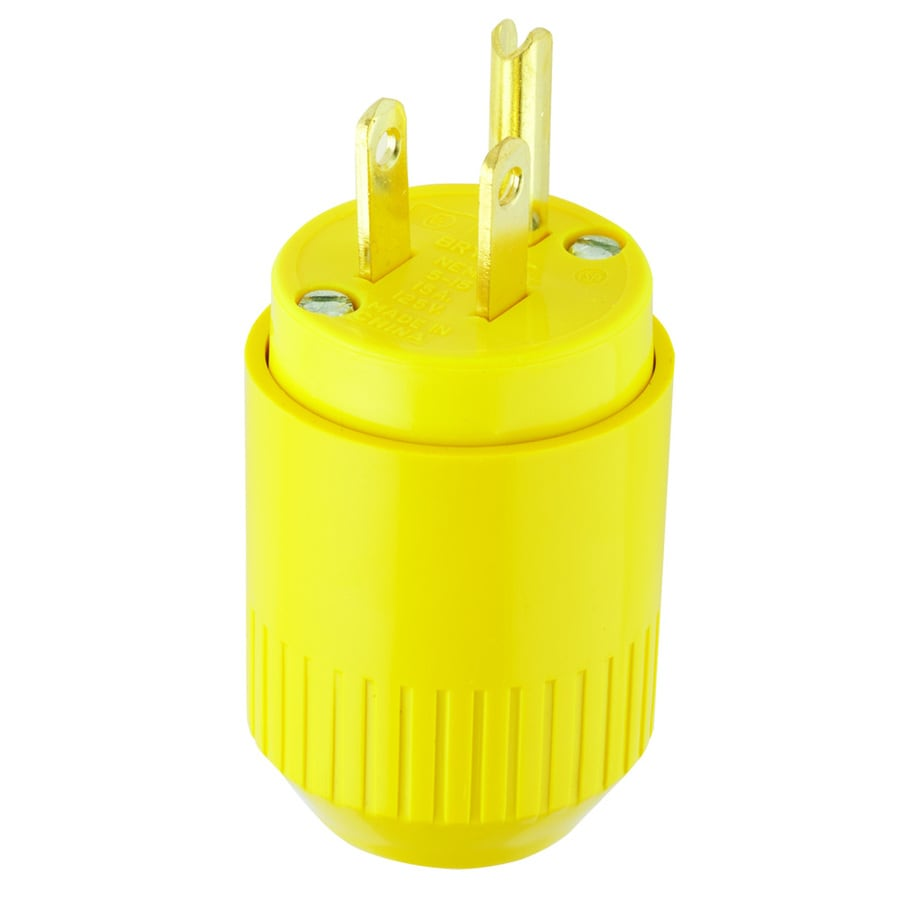 medium resolution of hubbell 15 amp 125 volt yellow 3 wire grounding plug