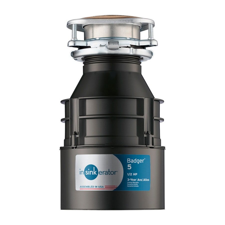 InSinkErator Badger 5 12HP Continuous Feed Garbage Disposal at Lowescom