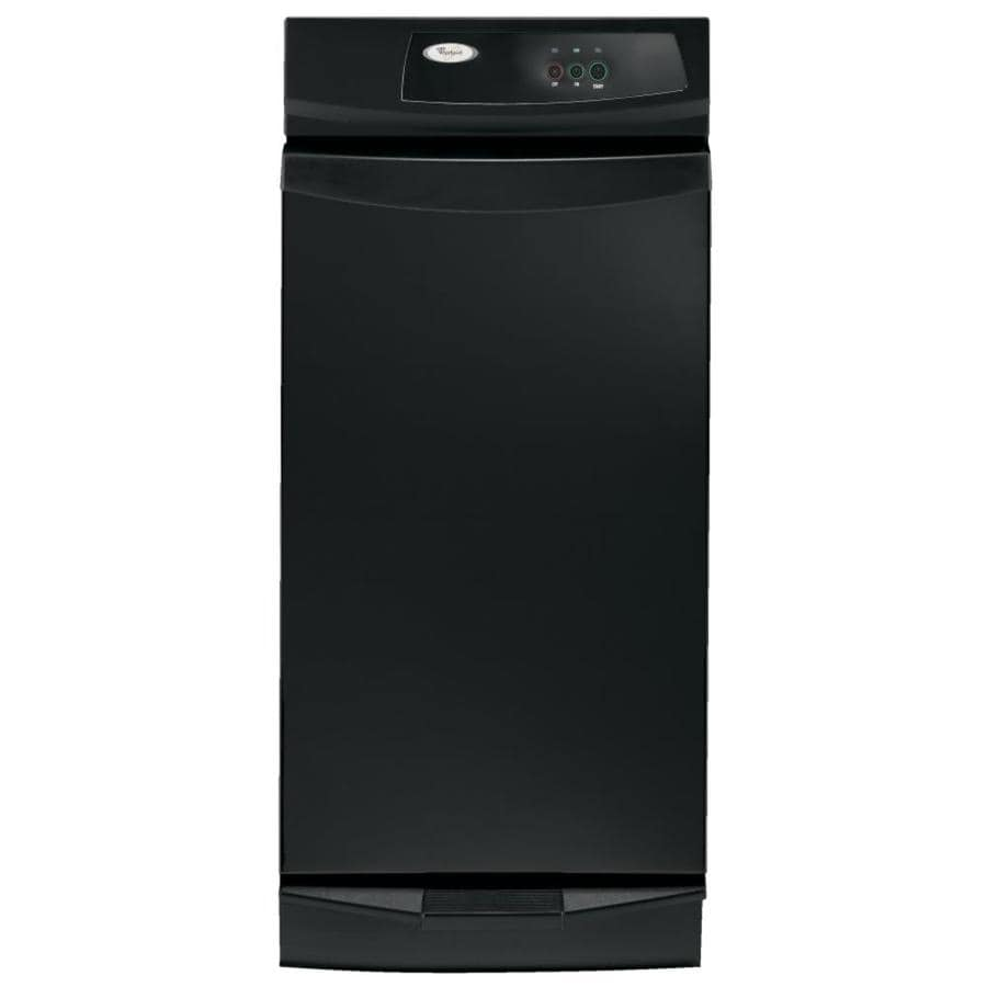 medium resolution of whirlpool 15 in black on black undercounter trash compactor