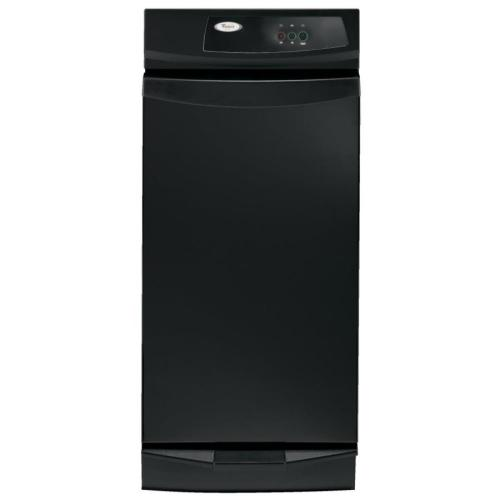 small resolution of whirlpool 15 in black on black undercounter trash compactor