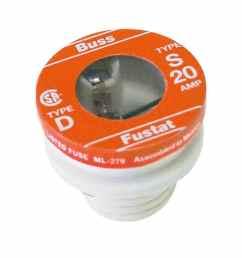 cooper bussmann 2 pack 20 amp time delay plug fuse [ 900 x 900 Pixel ]