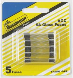 cooper bussmann 5 pack 5 amp fast acting electronic fuse [ 900 x 900 Pixel ]