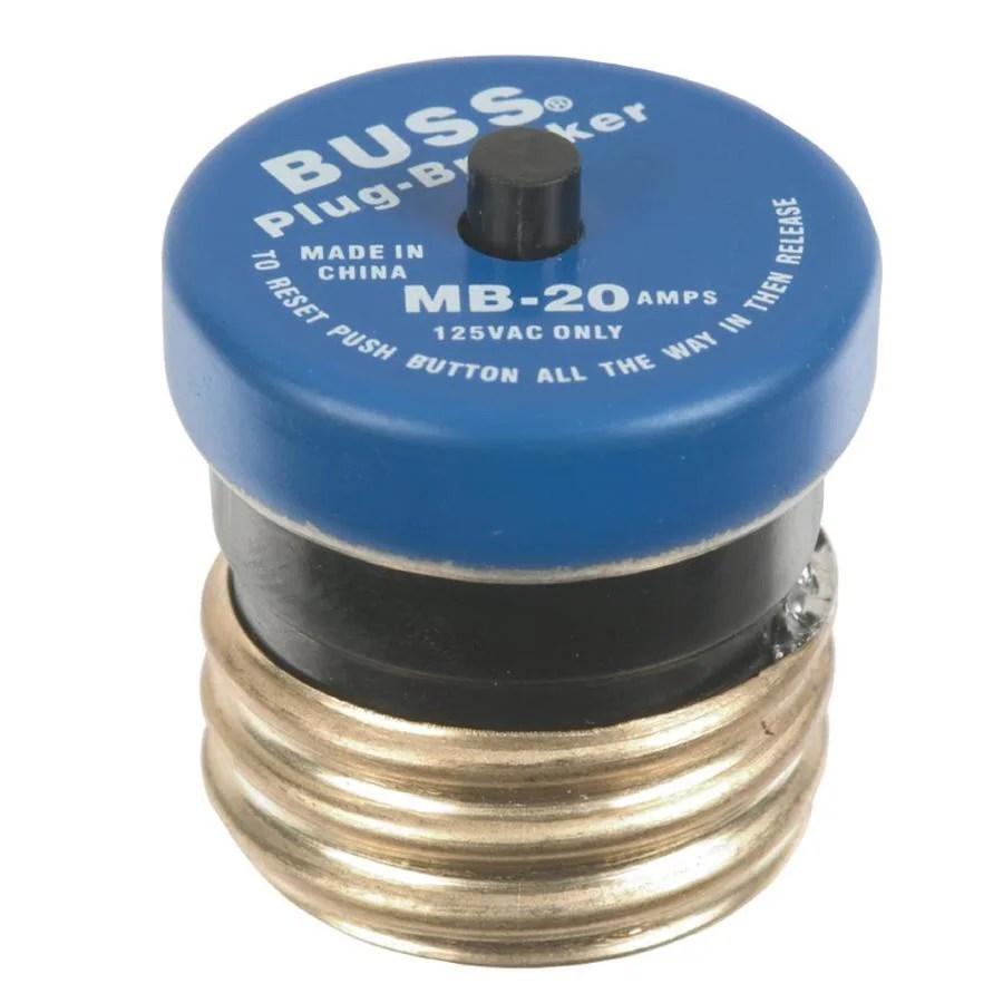 medium resolution of cooper bussmann 20 amp fast acting plug fuse