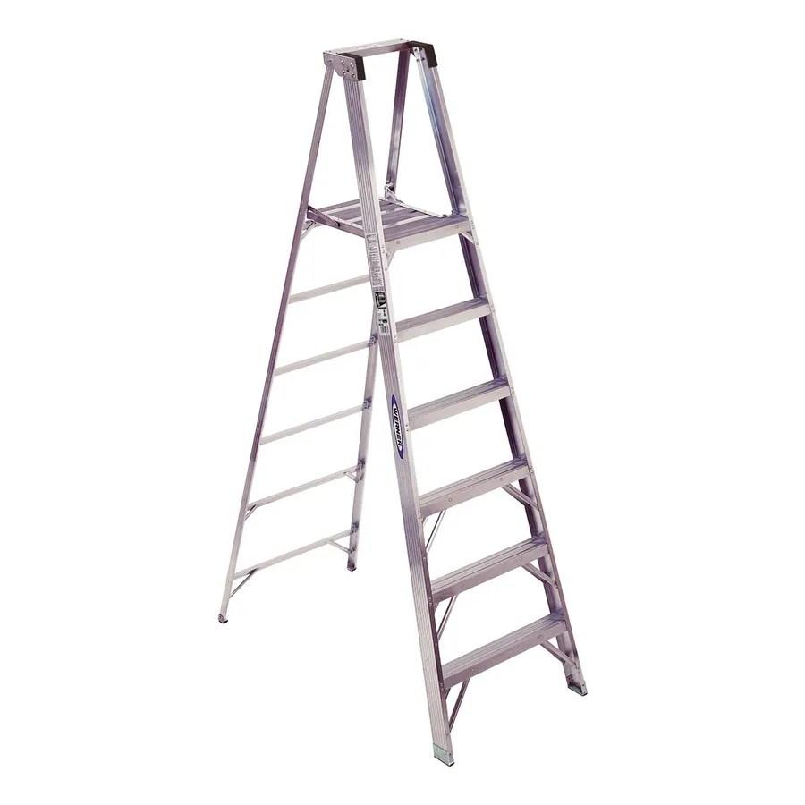Shop Werner 6-ft Aluminum 300-lb Type IA Platform Ladder