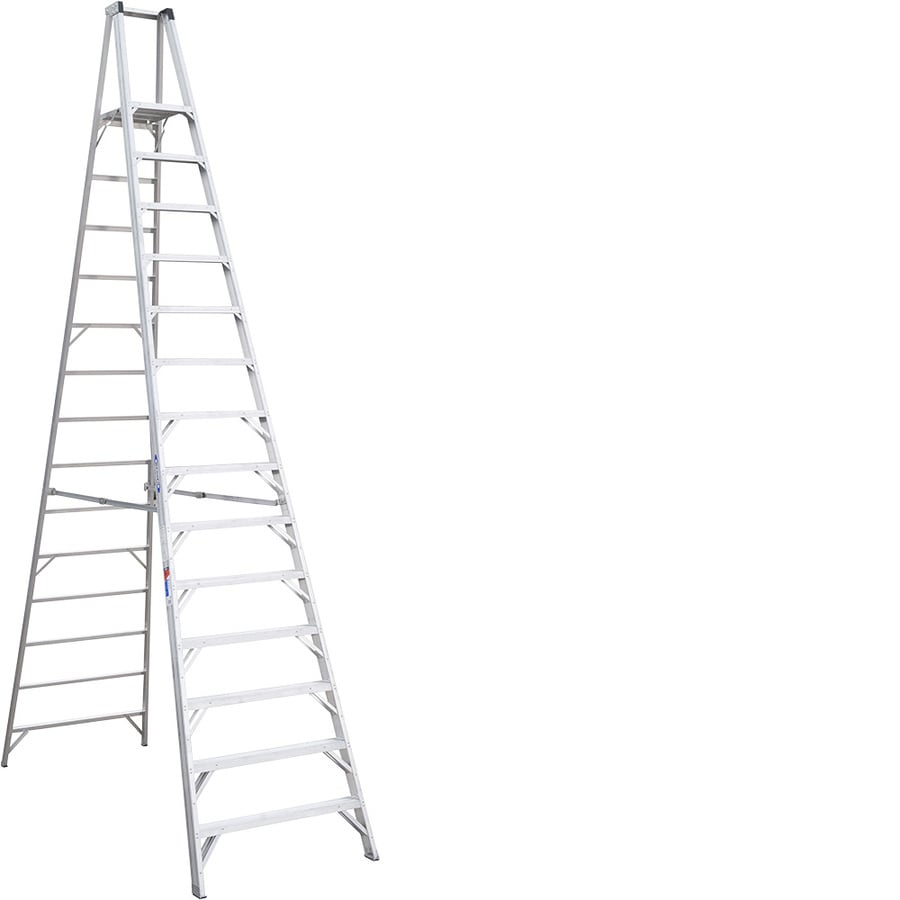 Shop Werner 14-ft Aluminum 300-lb Type IA Platform Ladder