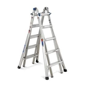 Werner 22-ft Aluminum 300-lb Telescoping Type IA Multi-Position Ladder