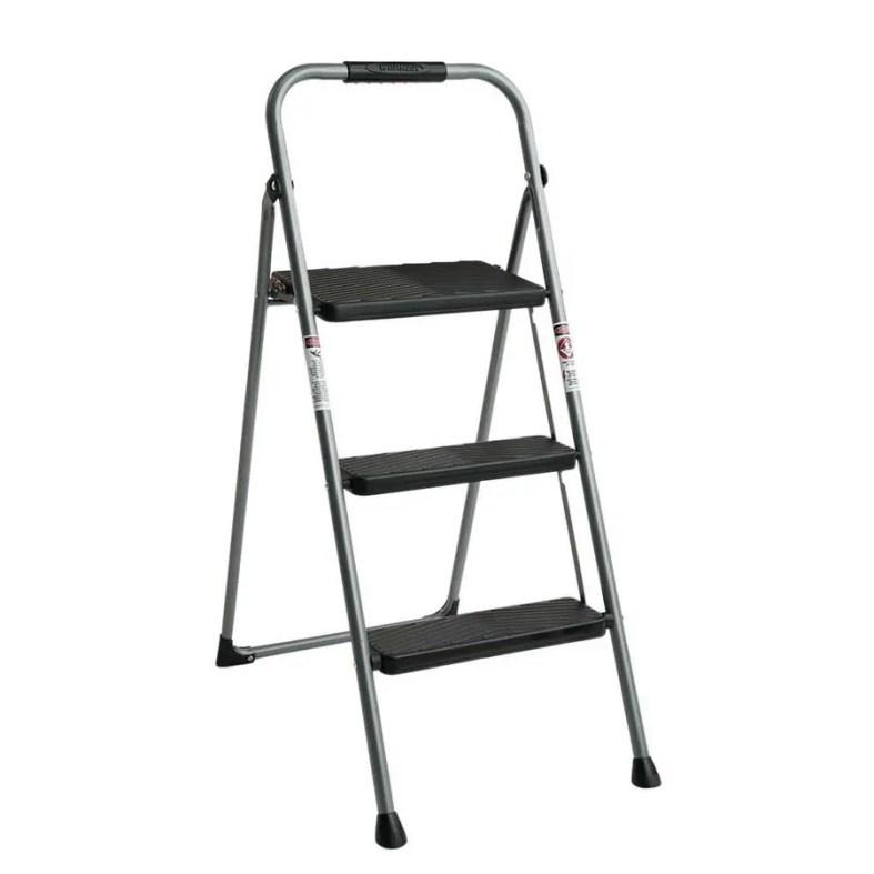 Super Lowes Werner 3 Step 225 Lbs Capacity Gray Steel Foldable Uwap Interior Chair Design Uwaporg
