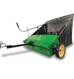 john deere 44 in lawn sweeper at lowes com lawn mower crawler diagram lawn mower sweeper [ 900 x 900 Pixel ]