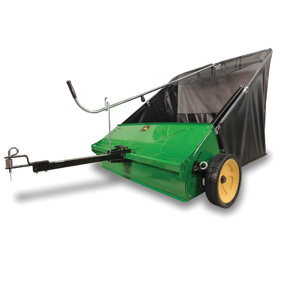 hight resolution of john deere 44 in lawn sweeper at lowes com lawn mower crawler diagram lawn mower sweeper