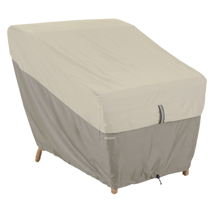 classic accessories belltown sidewalk grey polyester patio furniture cover