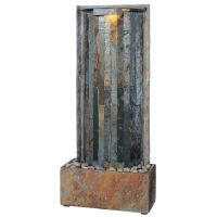 Shop Kenroy Home Waterwall 32-in Stone Wall Fountain at ...