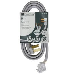 utilitech 3 prong gray range appliance power cord [ 900 x 900 Pixel ]