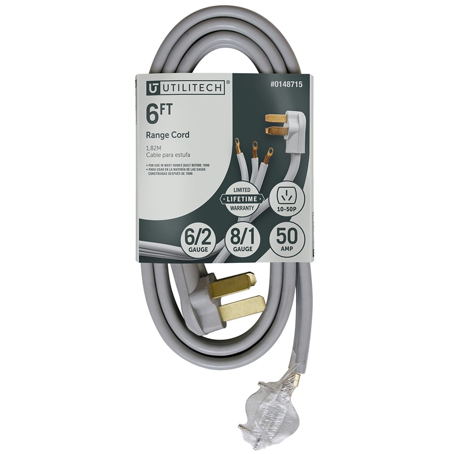hight resolution of utilitech 3 prong gray range appliance power cord