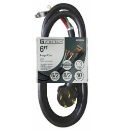 utilitech appliance power cords 4 prong black range appliance power cord [ 900 x 900 Pixel ]