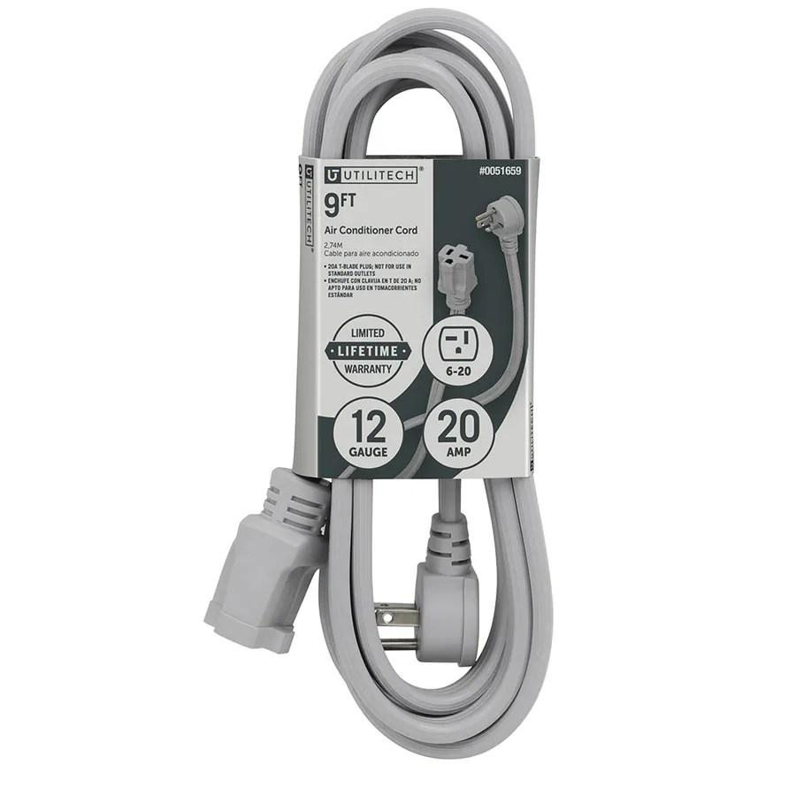 medium resolution of utilitech 9 ft 12 3 20 amp general extension cord