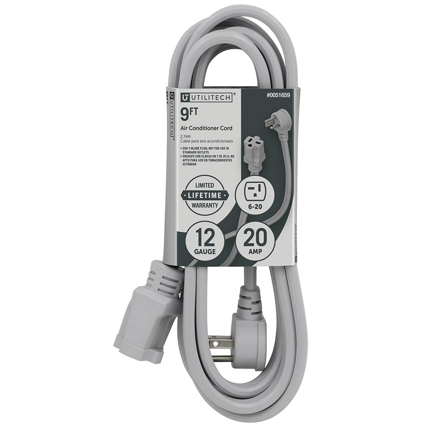 hight resolution of utilitech 9 ft 12 3 20 amp general extension cord