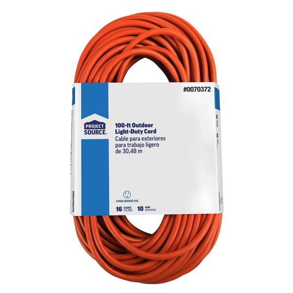 Extension Cord 3 8 40 100 Ft General In Outdoor Durable Electrical Power Cable