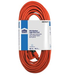 project source 50 ft 16 3 13 amp general extension cord [ 900 x 900 Pixel ]