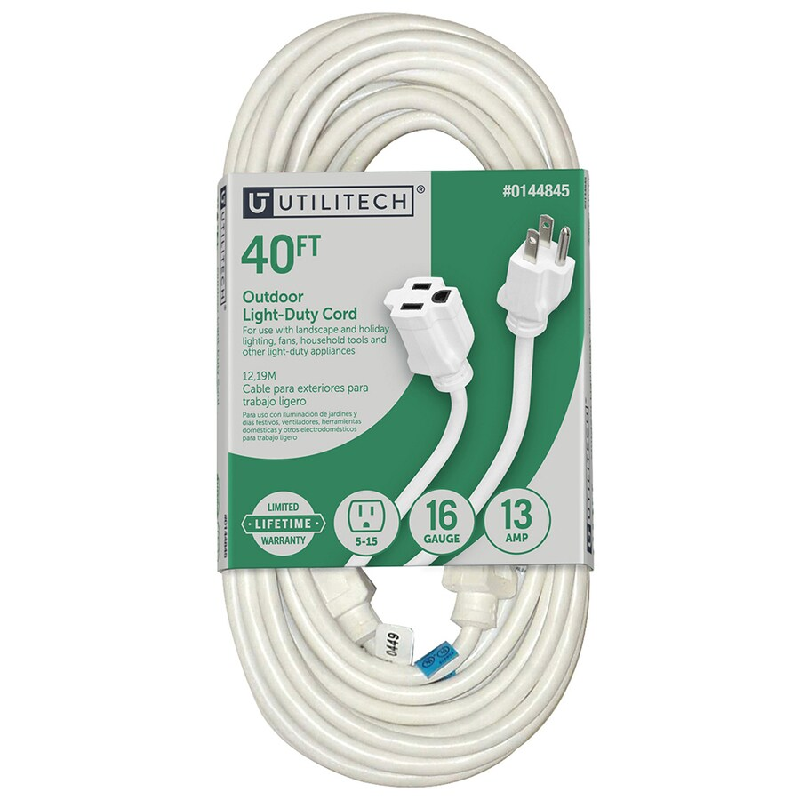 medium resolution of utilitech 40 ft 16 3 13 amp general extension cord