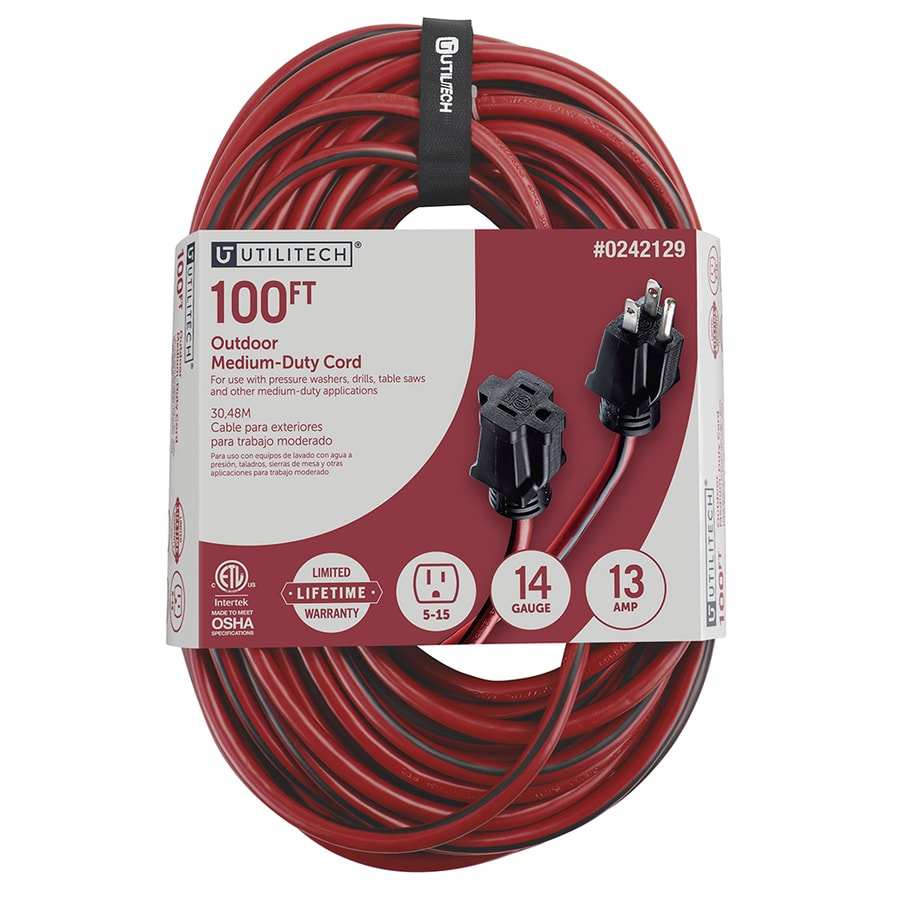 medium resolution of utilitech 100 ft 14 3 13 amp general extension cord