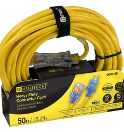 utilitech pro 50 ft 12 awg 3 sjtw 15 amps lighted extension [ 900 x 900 Pixel ]