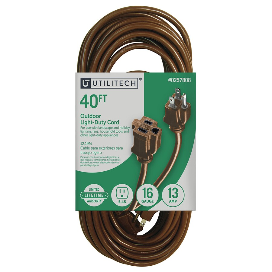 medium resolution of utilitech 40 ft 16 awg 3 sjtw 13 amps general extension cord