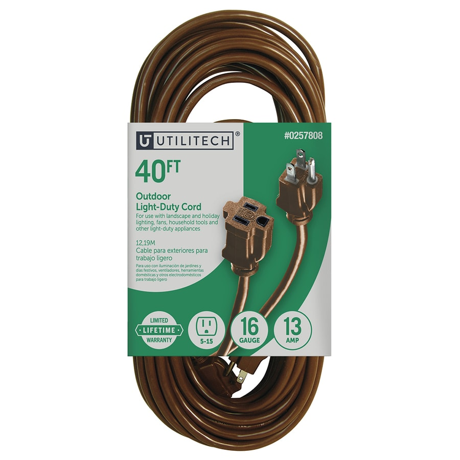 hight resolution of utilitech 40 ft 16 awg 3 sjtw 13 amps general extension cord