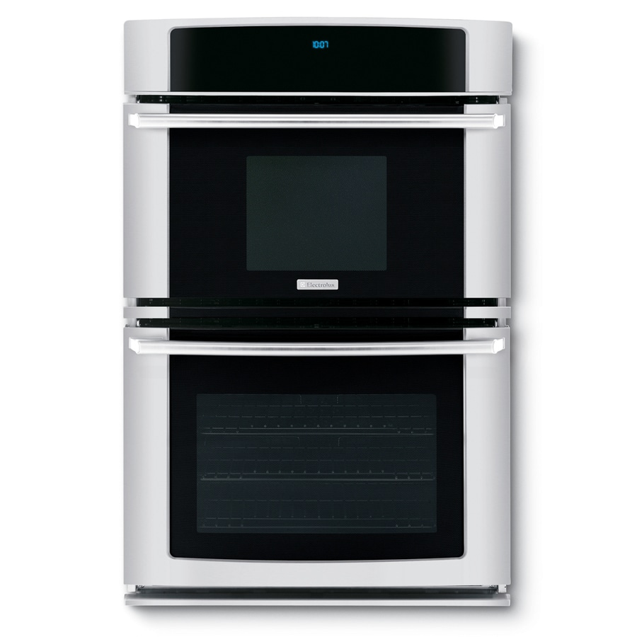 electrolux self cleaning microwave wall oven combo stainless common 27 in actual 27 in